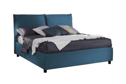 Letto Edera Tessuto Antimacchia Ginolfo 14 Blu King Size 180x200 Outlet